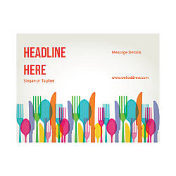 Custom Flyer Horizontal Eating Utensils