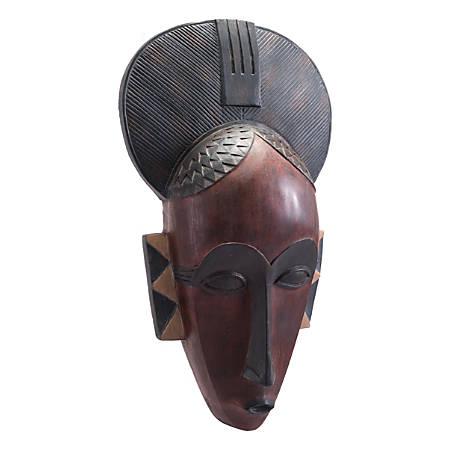 "Zuo Modern Tribal Mask, 29 3/4""H x 29 3/4""W x 1""D, Multicolor"