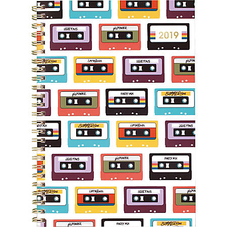 "Cambridge Fashion Mix Tapes Weekly/Monthly Planner, 12 Months, January Start, 8-1/2"" x 6-1/4"""