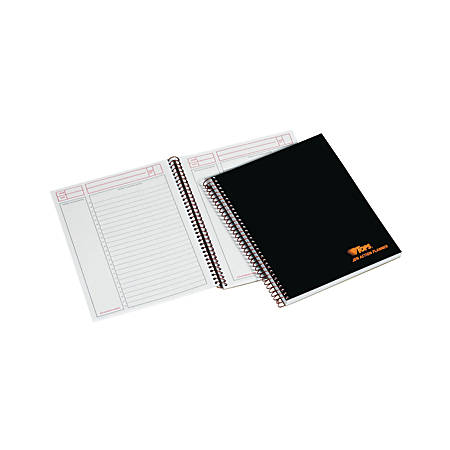 """TOPS™ Professional Planner Notebook, 8 1/2"""" x 6 3/4"""", 1 Subject, Legal Ruled, 100 Sheets, Black/Metallic"""