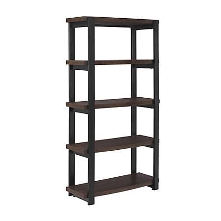 Ameriwood™ Home Castling 4-Shelf Bookcase, Espresso/Black