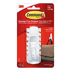 3M Command Utility Hook Large White
