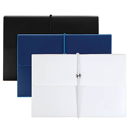 Office Depot® Brand Poly Index Box With Cards, Assorted Colors