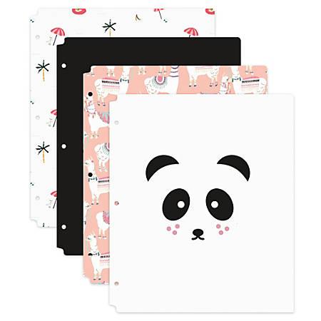 """Office Depot® Brand Fashion 2-Pocket Polypropylene Folder, 8-1/2"""" x 11-3/4"""", Instaculture, Assorted Designs"""