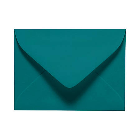 "LUX Mini Envelopes With Moisture Closure, #17, 2 11/16"" x 3 11/16"", Teal, Pack Of 250"
