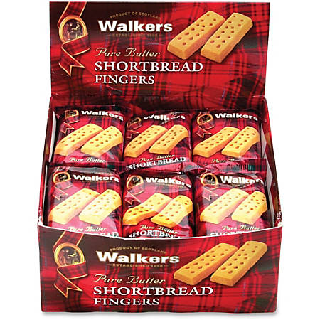 Walkers Shortbread Finger Cookies, 36 Oz, Box Of 24