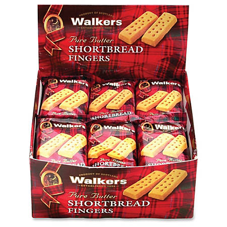 Walkers Shortbread Finger Cookies, 36 Oz, Box Of 24