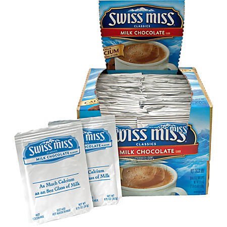 Swiss Miss Hot Cocoa, 0.73 Oz, Box Of 50 Packets