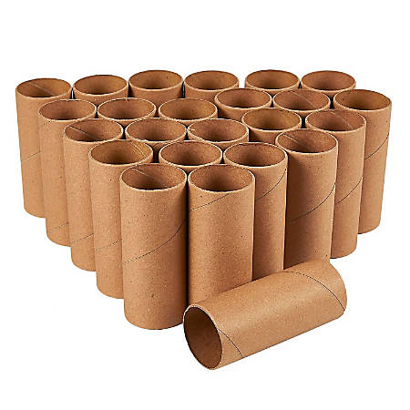 Craft Rolls - 24-Pack Cardboard Tubes For DIY Crafts, 3.9 Inches