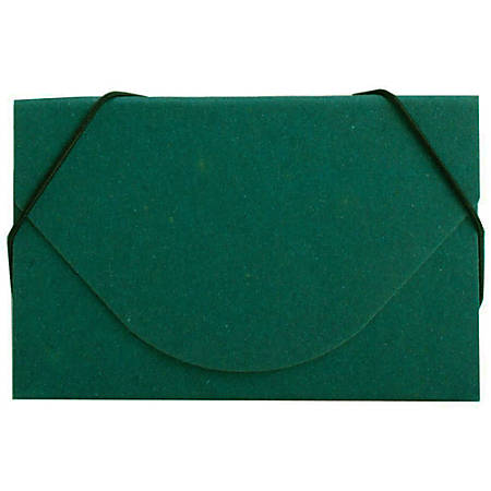 JAM Paper® Business Card Case With Elastic Closure, Green Grid