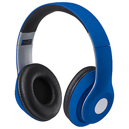 iLive Bluetooth® Wireless Over-The-Ear Headphones, Blue, IAHB48MBU