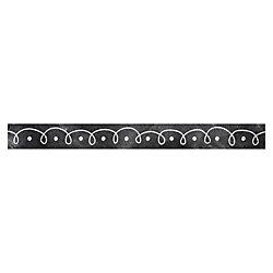 "Creative Teaching Press Chalk Dots/Loops Border - (Border) Shape - Dots & Loops - Straight Edge - 3"" Width x 420"" Length - Black/White - 1 Each"