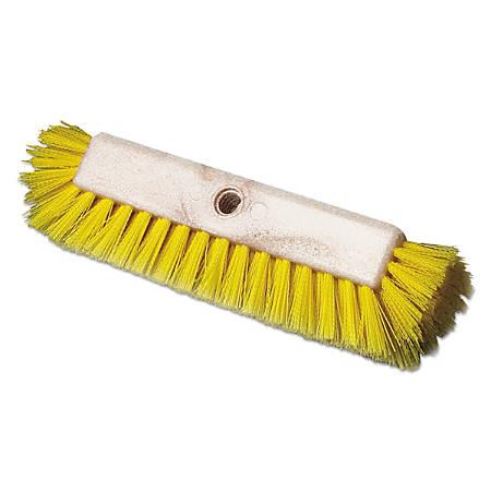 "Boardwalk® Dual-Surface Scrub Brush, 10"", Yellow"