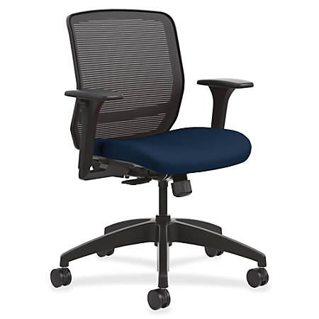 basyx by HON® Quotient Mesh Mid-Back Task Chair, Navy/Black