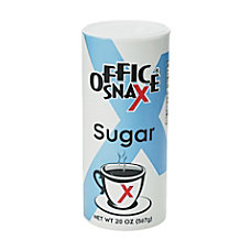 Office Snax Sugar Canister 20 Oz