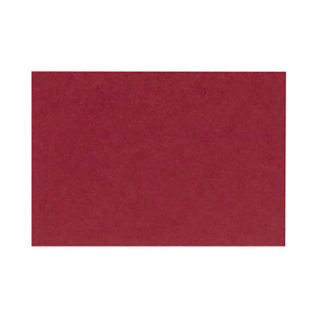 "LUX Flat Cards, A1, 3 1/2"" x 4 7/8"", Garnet Red, Pack Of 500"