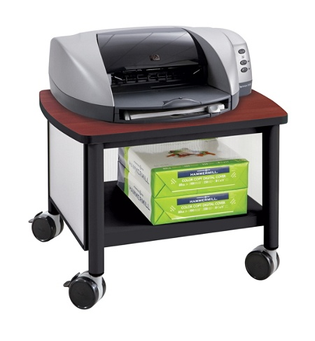 Safco Impromptu Under Table Printer Stand 14 12 H X 20 W 16 D Blackcherry By Office Depot Officemax