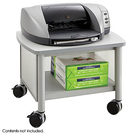 """Safco® Impromptu Under-Table Printer Stand, 14 1/2""""H x 20 1/2""""W x 16 1/2""""D, Gray"""