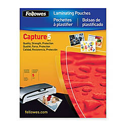 Fellowes Laminator Photo Pouches 4 12