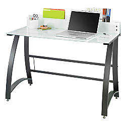 Safco Xpressions Frosted Computer Workstation Black