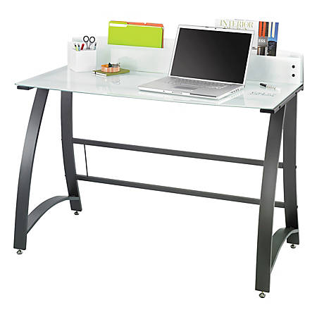 safco xpressions frosted computer workstation black by office depot officemax. Black Bedroom Furniture Sets. Home Design Ideas