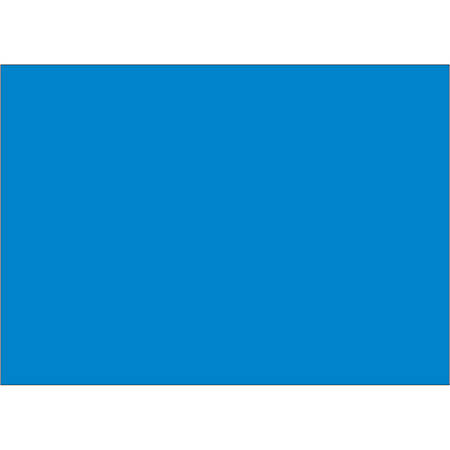 """Tape Logic® Write™On Inventory Labels, DL639C, Rectangle, 5"""" x 7"""", Light Blue, Roll Of 500"""