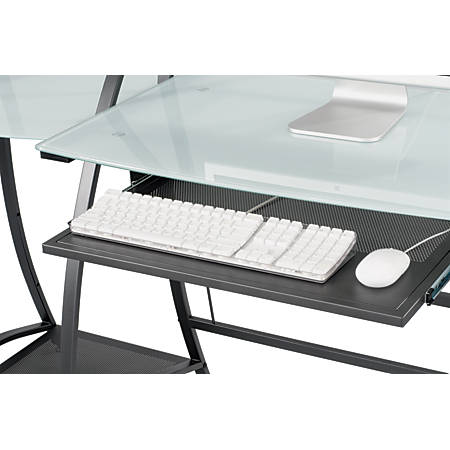 "Safco® Xpressions Computer Workstation Keyboard Tray, 23 1/2""W x 15 1/4""D, Black, SAF1940BL"