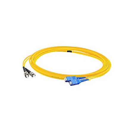 AddOn 4m SC (Male) to ST (Male) Yellow OS1 Duplex Fiber OFNR (Riser-Rated) Patch Cable