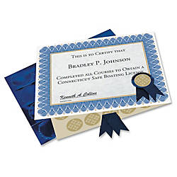 Geographics Custom Print Award Certificates Kit