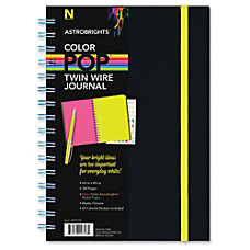 Astrobrights Twin Wire Journal with Black