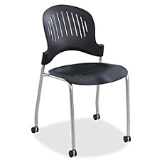Safco Zippi Stack Chair SilverBlack Set