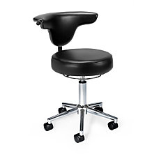 OFM AntimicrobialAntibacterial Anatomy Chair BlackChrome