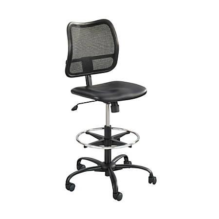 Safco® Vue Mesh/Vinyl Chair, Black
