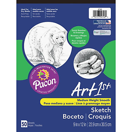 "Pacon® Art1st® Sketch Pad, 9"" x 12"", 50 Sheets"