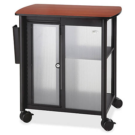 "Safco® Impromptu Polycarbonate/Laminate Personal Mobile Storage Center, 26 1/2""H x 25 1/2""W x 17 1/4""D, Black/Cherry"