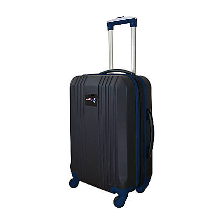 """Mojo L208 ABS Carry-On Hardcase Spinner, 21""""H x 14""""W x 9-1/2""""D, New England Patriots, Black/Navy"""