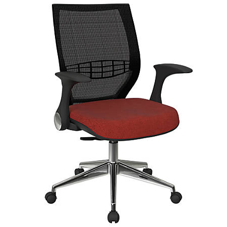 Office Star™ Pro-Line II ProGrid Fabric High-Back Chair, Cherry/Black/Silver