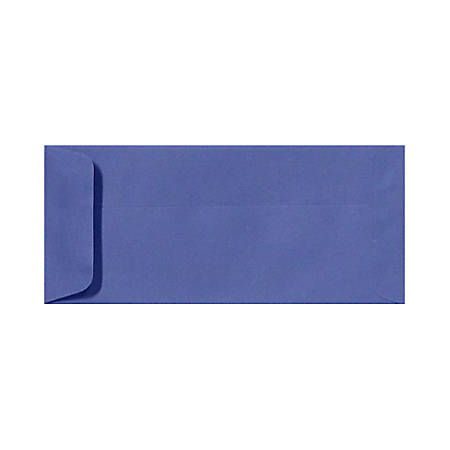 "LUX Open-End Envelopes With Peel & Press Closure, #10, 4 1/8"" x 9 1/2"", Boardwalk Blue, Pack Of 50"