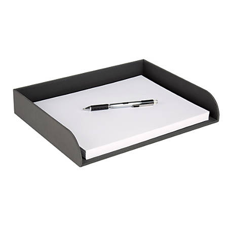 """Realspace™ Letter-Size Paper Tray, 2 3/16""""H x 9 11/16""""W x 12 1/8""""D, Gray"""