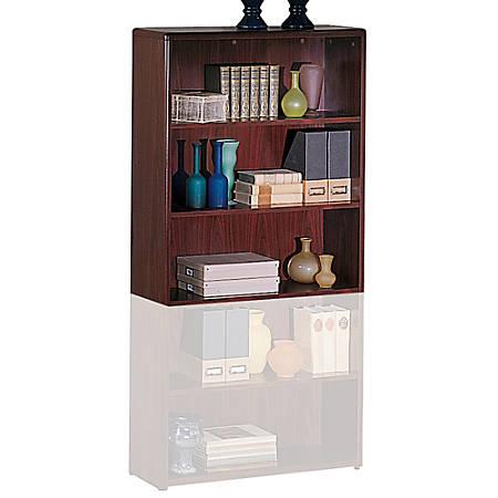HON® 10700 Series™ Laminate Bookcase, 3 Shelves, Mahogany