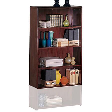 HON® 10700 Series™ Laminate Bookcase, 4 Shelves, Mahogany