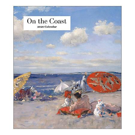 "Retrospect On The Coast Monthly Desk Calendar, 6-1/4"" x 5-1/2"", January To December 2020, YCD 081-20"