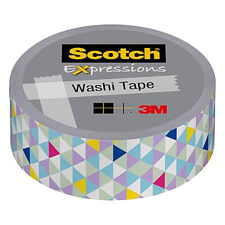 "Scotch® Expressions Washi Tape, 0.59"" x 32.75', Pastel Triangles"