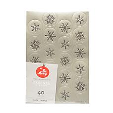 Gartner Studios Holiday Seals Silver Foil