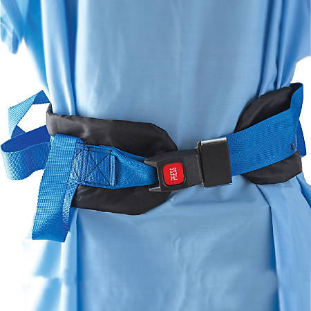 DMI® Deluxe Adjustable Nylon Gait Belt With Seatbelt-Style Buckle, Blue