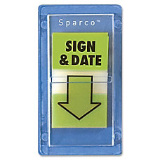 Sparco Sign Date Preprinted Self Stick