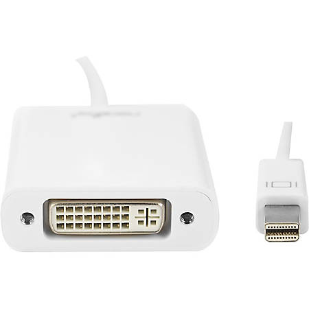 """Rocstor Mini DisplayPort to DVI Adapter - Cable Length: 5.9"""" - 5.90"""" DVI/Mini DisplayPort Video Cable for Desktop Computer, Notebook, HDTV, Projector, Monitor, Video Device - First End: 1 x Mini DisplayPort Male Video - Second End: 1 x DVI-I Female Video"""