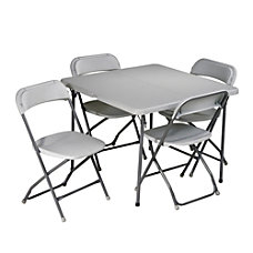 Work Smart 5 Piece Folding Table