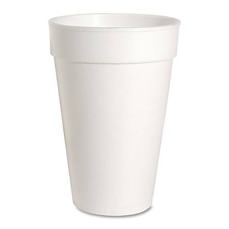 Genuine Joe Hot/Cold Foam Cups, 16 Oz, White, Carton Of 500 Cups