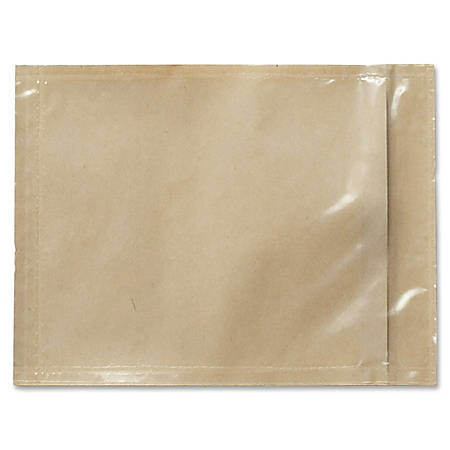 """3M Non-Printed Packing List Envelope For Packing Slips And Invoices, 4 1/2"""" x 6"""", Orange, Pack Of 1,000"""